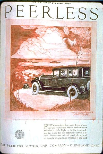 Peerless Motor Car Co. Ad, c. 1927